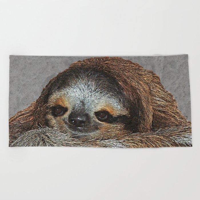 SLOTH LOVE Beach Towel