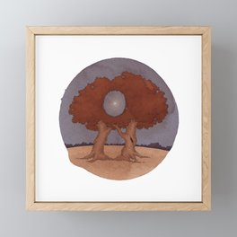A Moon with a View Framed Mini Art Print