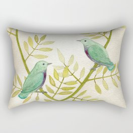 Celadon Birds Rectangular Pillow