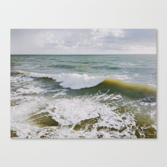 Yellow Wave Canvas Print
