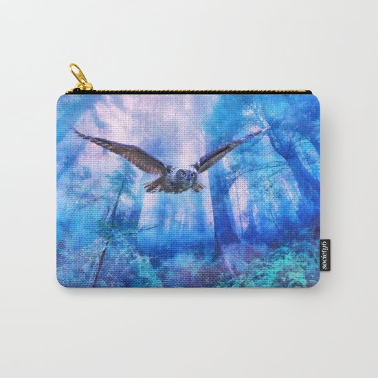 Owl flight Carry-All Pouch