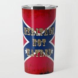 Heritage, not Hatred - US Southern Cross Flag Travel Mug