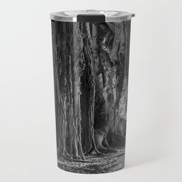 Black and White Banyan Travel Mug
