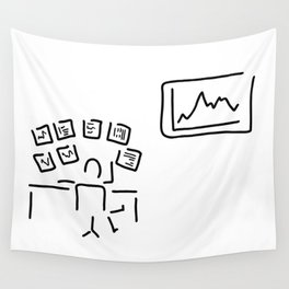 stock exchange stockbroker fund manager Wall Tapestry