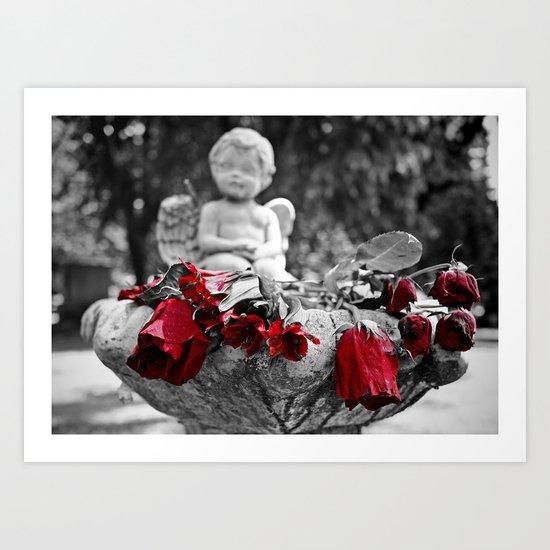 Graveyard roses Art Print