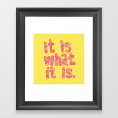 what it is yellow square Framed Art Print