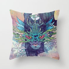 Spectral Cat Throw Pillow