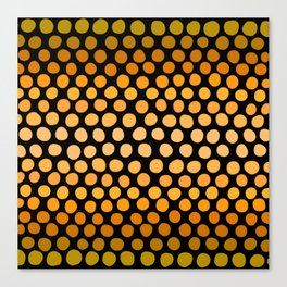 Honey Gold and Amber Ombre Dots Canvas Print