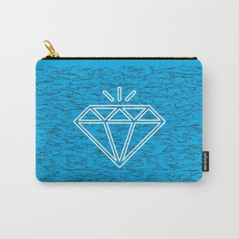 diamond cyan Carry-All Pouch