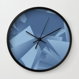 Airy Blue Riverside 1 Wall Clock