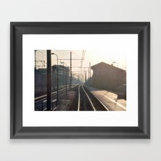The Blurry Memory Of Leaving Home Framed Art Print