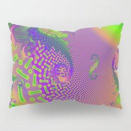 Interconnected Metallic Fractal Pillow Sham