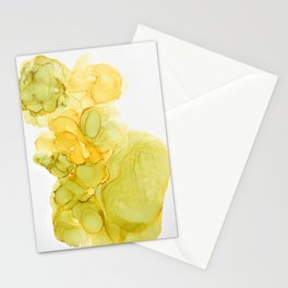 Green & Yellow Ink Composition Stationery Cards