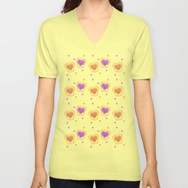 Sweet Lovers - Pattern Unisex V-Neck