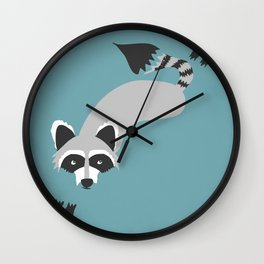Robby Raccoon Wall Clock