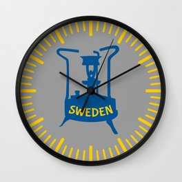 Sweden   Brass Pressure Stove Wall Clock