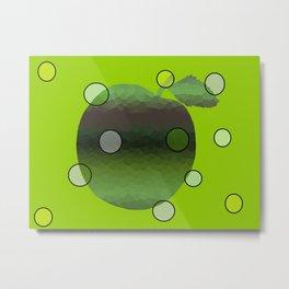 Contemporary Apple Metal Print