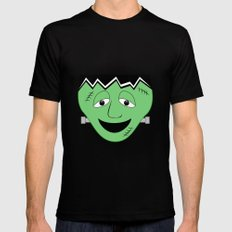 Cartoon Frankenstein Monster Face MEDIUM Mens Fitted Tee Black