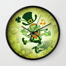 Irish Leprechaun Dancing and Singing Wall Clock