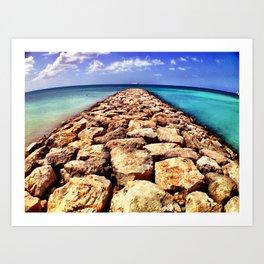 Palm Beach, Aruba Art Print