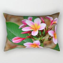 Plumeria Floral Art - Tropical Queen - Sharon Cummings Rectangular Pillow