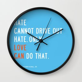 Love Can Quote Wall Clock