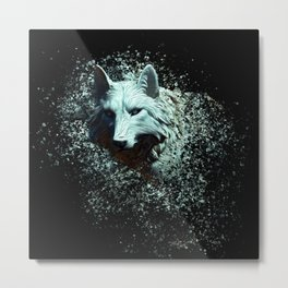 Of The White Wolf Metal Print