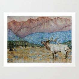 RMNP Elk Watercolor Art Print