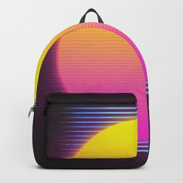 Retro 80's Neon Sunrise Backpack
