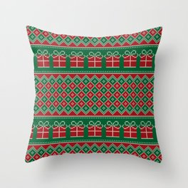 Christmas Packages Throw Pillow