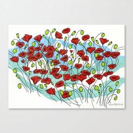 Field Poppies Canvas Print