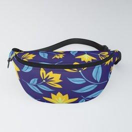 Vintage Indigo Floral Fanny Pack