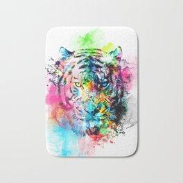 colorful tiger Bath Mat