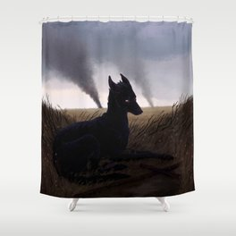 Grim Fields Shower Curtain