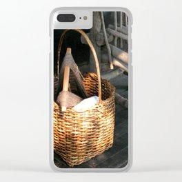 Basket of Yarn Clear iPhone Case