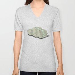 Pile Of Cash Unisex V-Neck