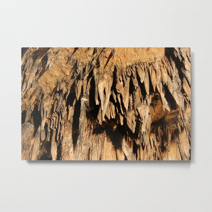 Cave Rock Stone Sharp inside crystal Metal Print