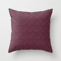 burgundy Throw Pillows featuring Burgundy by Lisi Fkz