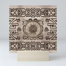 Vegvisir - Viking Compass Ornament #3 Mini Art Print