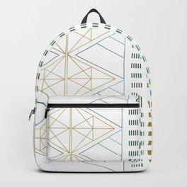 Gold Aqua Geometric Pattern 1.0 Backpack