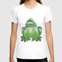 frog T-shirts featuring Frog by Frances Roughton