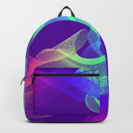 Abstract background of flowing lines. Elegant flowing lines in a square for interior decoration Backpack