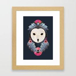 Owl 1 - Dark Framed Art Print