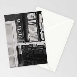 getting lost in a book store Stationery Cards