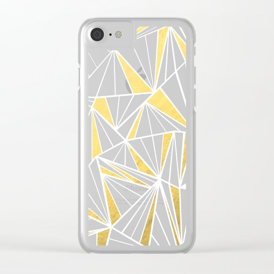 Ab Fan Zoom Gold Clear iPhone Case