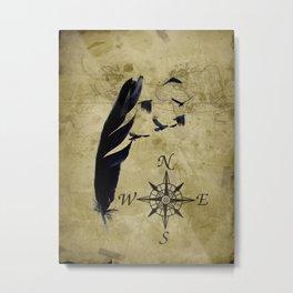 As the Crow Flies A677 Metal Print