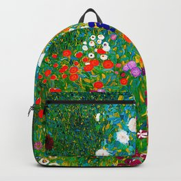 Gustav Klimt - Flower Garden Backpack