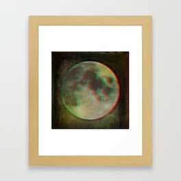 Stereo Moon Framed Art Print