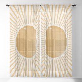 Sunshine Yellow Art Sheer Curtain