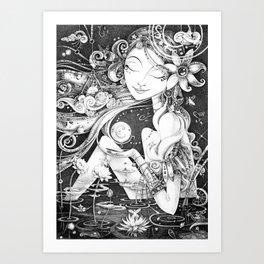 Ma Bella Luna Art Print